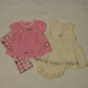 4 piece Bundle Baby Girl Outfits size 6 months EUC